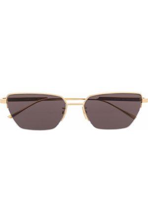 Bottega Veneta Rectangle-frame tinted sunglasses