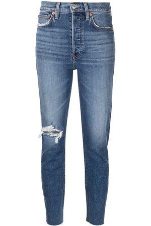 RE/DONE Ženy Strečové - Comfort Stretch ripped jeans