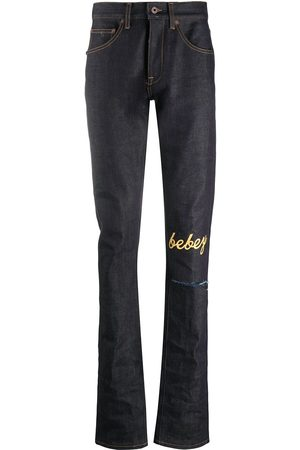 OFF-WHITE Muži Slim - X Theophilus London bebey selvedge jeans