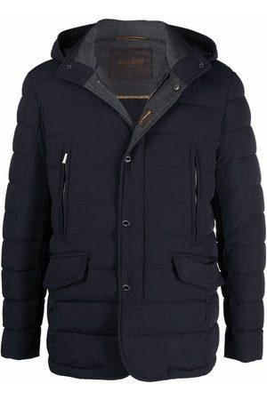 Moorer Muži Péřové bundy - Hooded down puffer jacket