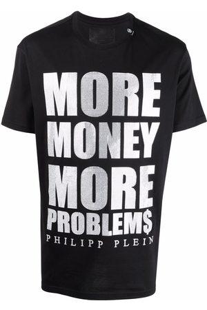 Philipp Plein Slogan-print cotton T-shirt