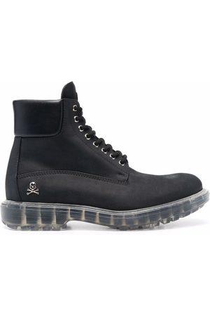 Philipp Plein Muži Šněrovací - Hunter lace-up leather boots