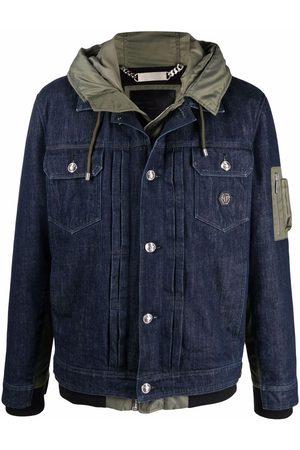 Philipp Plein Hooded denim jacket