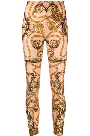 Philipp Plein New Baroque print leggings