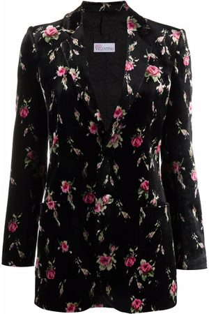 RED Valentino Floral pattern single-breasted blazer jacket