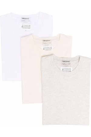 Maison Margiela Three-pack organic cotton T-shirts