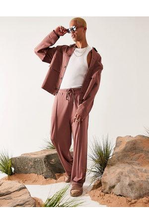 ASOS Oversized harrington jacket in pink