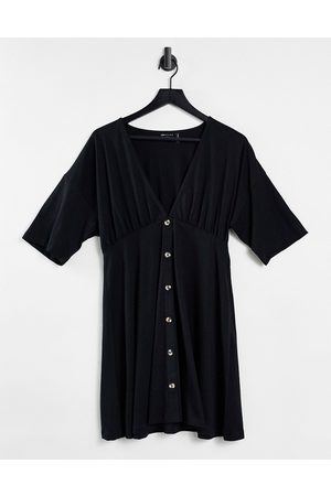 ASOS Tea dress with horn buttons in black