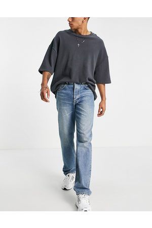 ASOS Straight leg jeans in vintage mid wash blue