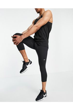 ASOS 4505 Icon training tights in 3/4 length with quick dry-Black