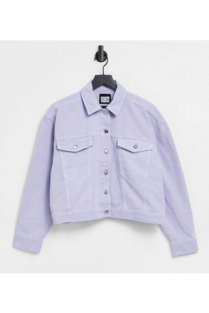 Reclaimed Vintage Inspired denim jacket in lilac wash-Purple