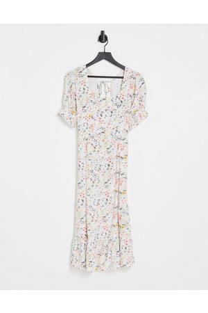 Influence Ženy Volnočasové - Floral midi tea dress with tie back-Multi