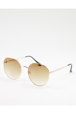 Jeepers Peepers Womens round sunglasses in gold