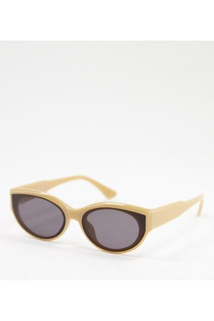 Jeepers Peepers Womens cat eye sunglasses in matte brown - exclusive to ASOS