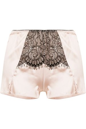 Burberry Lace panel satin shorts