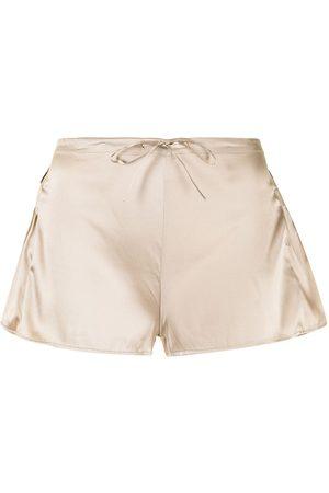 Burberry Pleat-detail check-trim shorts