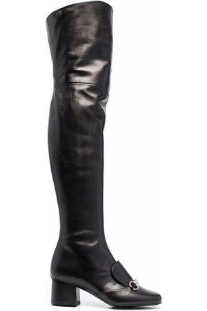 Gucci Horsebit thigh-high boots
