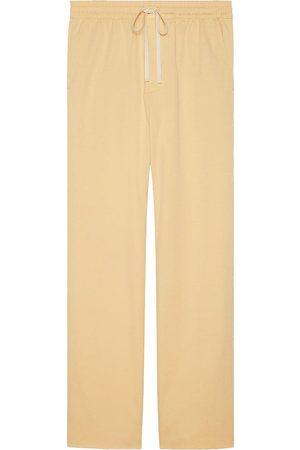 Gucci Vintage logo straight-leg trousers