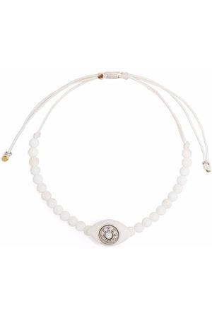 Anil Arjandas 18kt white gold Pumped Eye diamond agate beaded bracelet