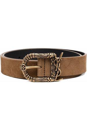 Saint Laurent Ženy Pásky - YSL logo leather belt