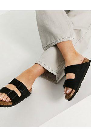 Birkenstock Ženy Bez podpadku - Arizona suede flat sandals in black