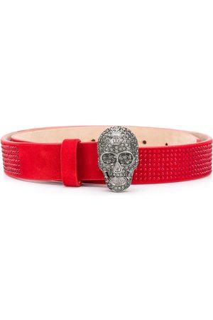 Philipp Plein Rhinestone-embellished skull belt