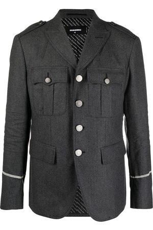Dsquared2 Flap-pocket military jacket