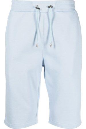Balmain Flocked logo shorts