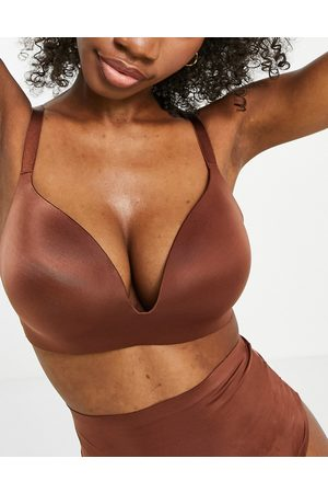 ASOS Fuller Bust smoothing padded non wire bra in brown