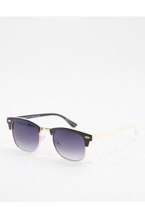 Accessorize Cally retro sunglasses in black with smoke lens