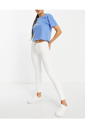 MANGO Mom jean in white