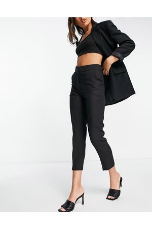 ASOS Tailored smart mix & match cigarette suit trousers in black