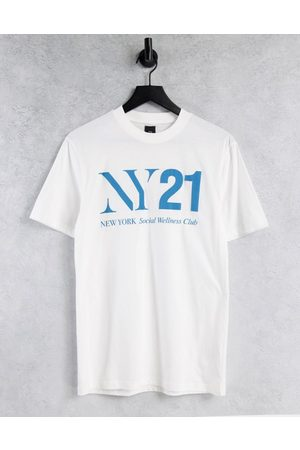 River Island NY21 t-shirt in white