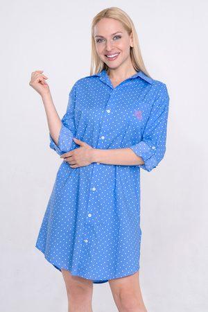 Ralph Lauren Dámská noční košile Blue Dot