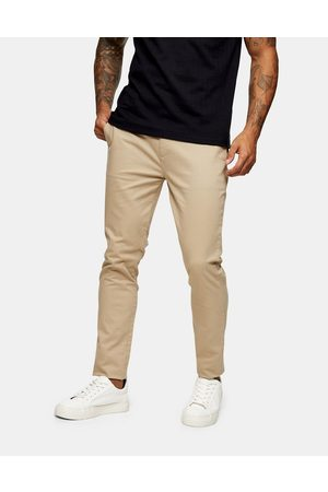Topman Super skinny chinos in stone-Neutral