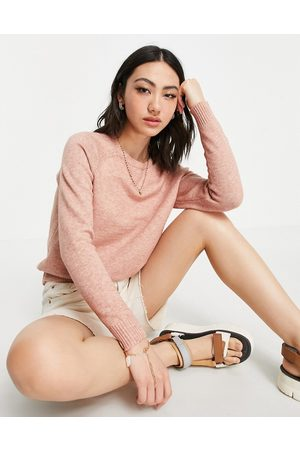 ONLY Kings long sleeve pullover knit in Misty Rose-Pink
