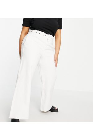Simply Be Wide leg jean in white