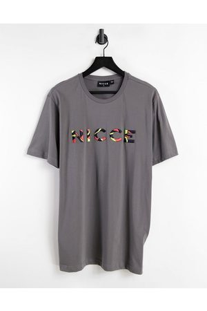 Nicce London Saturn embroidered t-shirt in grey