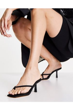 Forever New Stella toe loop low heel in black