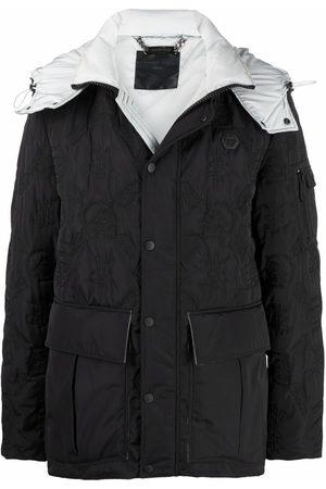 Philipp Plein Monogram-embroidered hooded jacket