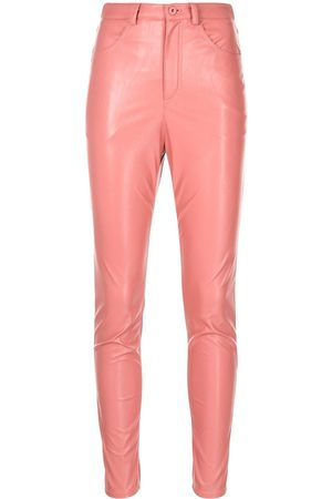 LAPOINTE Faux-leather skinny trousers