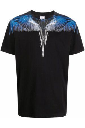 MARCELO BURLON WINGS REGULAR T-SHIRT BLACK BLUE