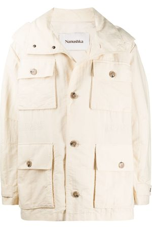 Nanushka Bart hooded rain jacket