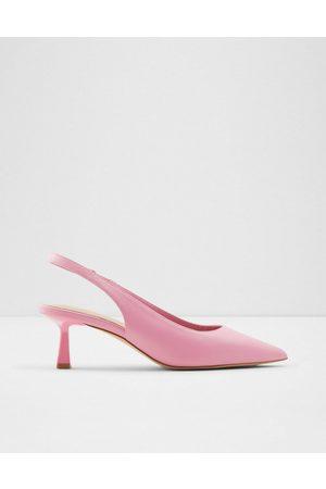 Aldo Peranga sling back flared heel court shoes in pink