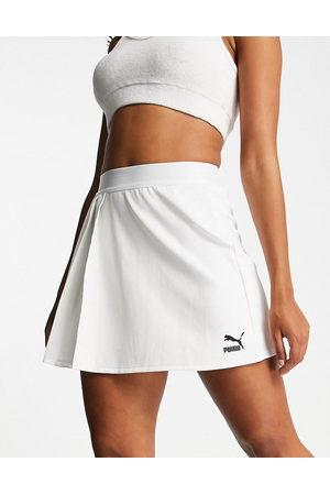 PUMA Ženy Krátké - Classics asymmetric tennis skirt in white