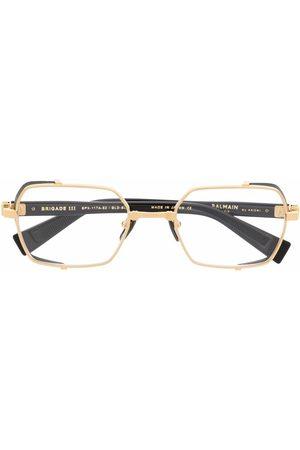 Balmain Brigade angular-frame glasses