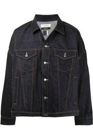 Facetasm Muži Džínové bundy - Button-down denim jacket