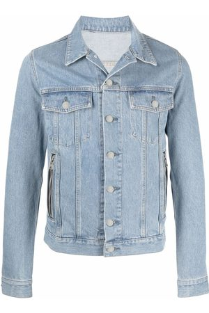 Balmain Embroidered-design denim jacket