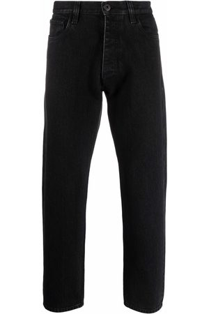 Prada Triangle patch mid-rise jeans