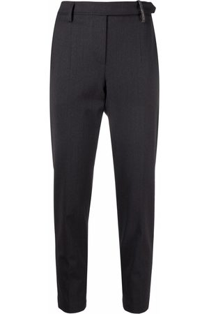Brunello Cucinelli Monili-detailed slim-fit trousers